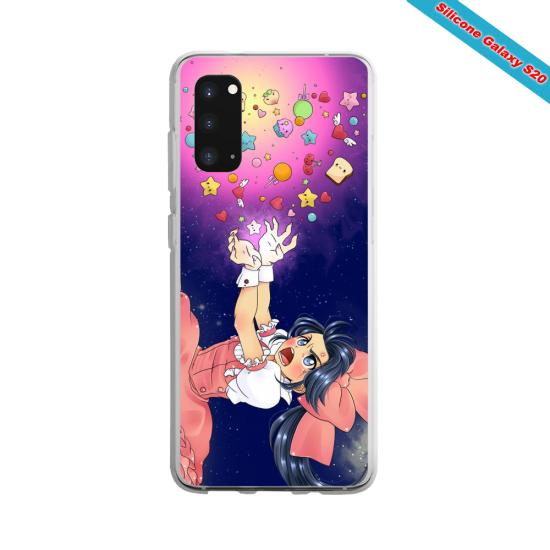 Coque silicone Huawei P30 Yoga Papillon