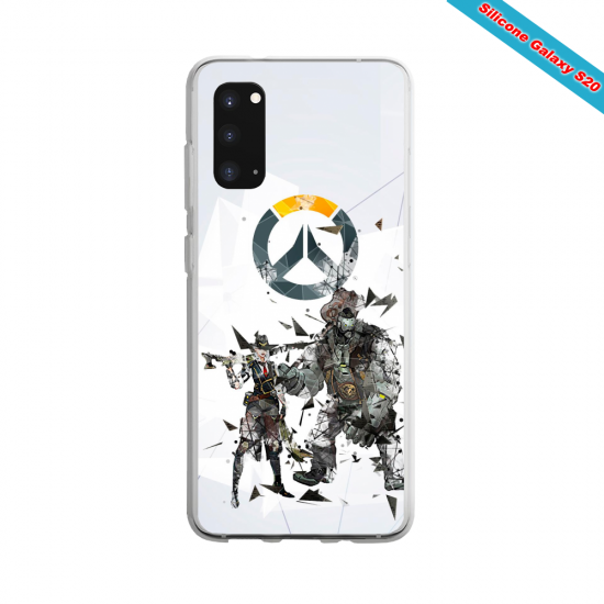 Coque silicone Iphone 6/6S verre Trempé Summer party