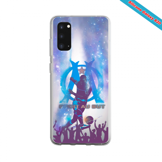 Coque Silicone Galaxy S9 verre trempé Fan de Ligue 1 St-Etienne splatter