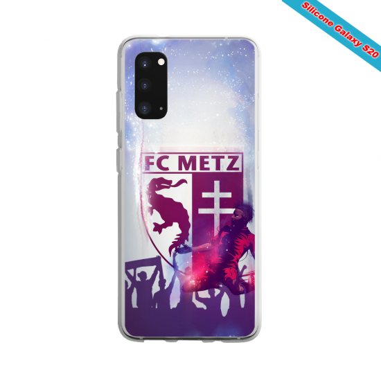 Coque Silicone Galaxy S9 verre trempé Fan de Ligue 1 Rennes splatter