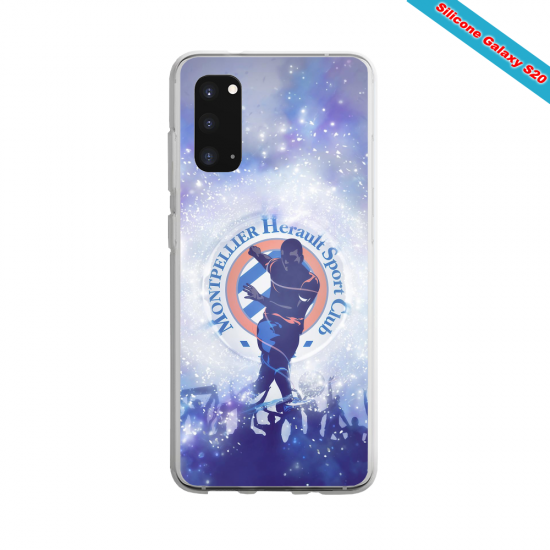 Coque Silicone Galaxy S9 verre trempé Fan de Ligue 1 Reims splatter