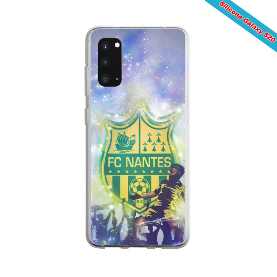 Coque Silicone Galaxy S9 verre trempé Fan de Ligue 1 Paris splatter