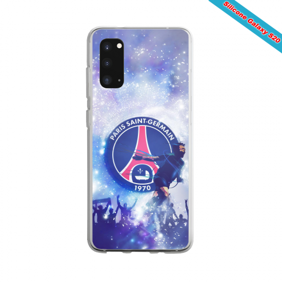 Coque Silicone Galaxy S9 verre trempé Fan de Ligue 1 Nice splatter