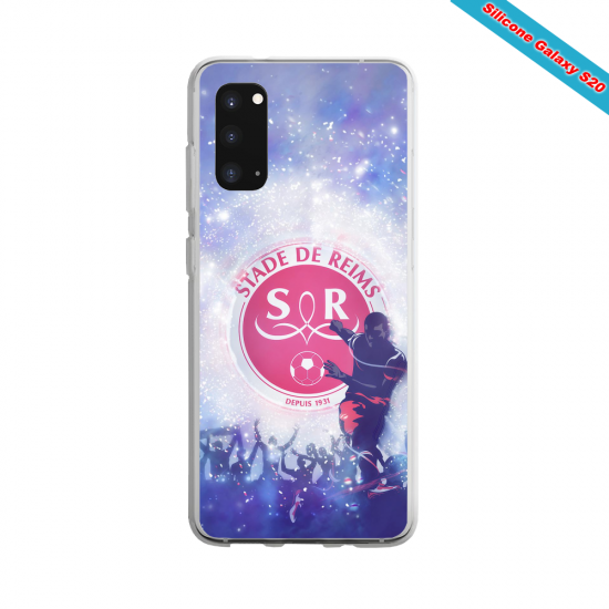 Coque Silicone Galaxy S9 verre trempé Fan de Ligue 1 Nantes splatter