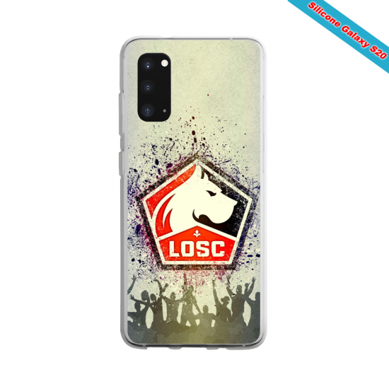 Coque Silicone Galaxy S9 verre trempé Fan de Ligue 1 Brest splatter