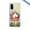 Coque Silicone Galaxy S9 verre trempé Fan de Ligue 1 Brest splatter