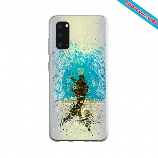 Coque Silicone Galaxy S9 verre trempé Fan de Ligue 1 Bordeaux splatter