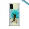 Coque Silicone Galaxy S9 verre trempé Fan de Ligue 1 Bordeaux splatter