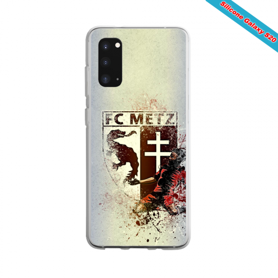 Coque Silicone Galaxy S9 verre trempé Fan de Ligue 1 Angers splatter