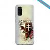 Coque Silicone Galaxy S9 verre trempé Fan de Ligue 1 Angers splatter