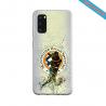 Coque Silicone Galaxy S9 verre trempé Fan de Ligue 1 Amiens splatter