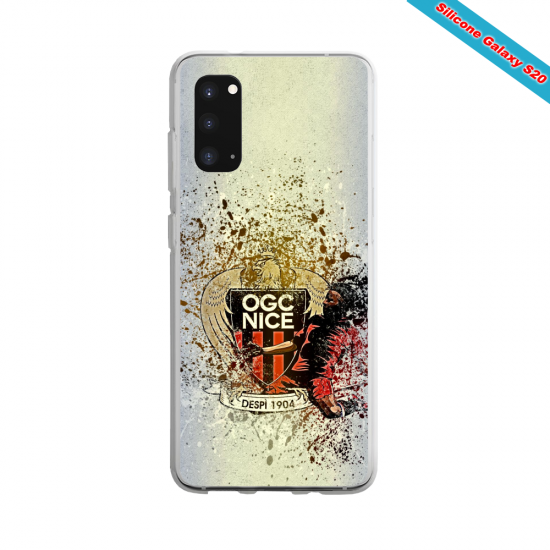 Coque Silicone Galaxy S9 verre trempé Fan de Ligue 1 Toulouse cosmic