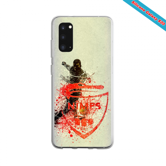Coque Silicone Galaxy S9 verre trempé Fan de Ligue 1 Strasbourg cosmic