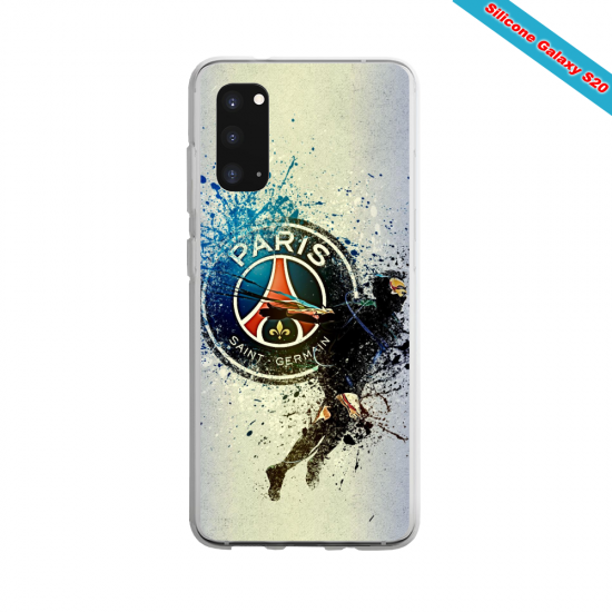 Coque Silicone Galaxy S9 verre trempé Fan de Ligue 1 St-Etienne cosmic