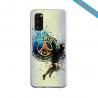 Coque Silicone Galaxy S9 verre trempé Fan de Ligue 1 St-Etienne cosmic
