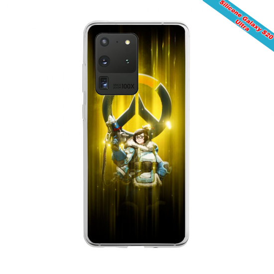 Coque Silicone Galaxy S10 verre trempé Fan de Ligue 1 Reims splatter