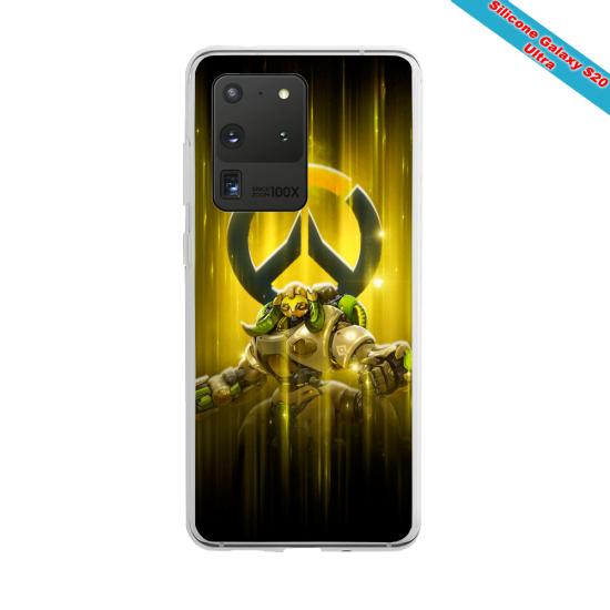 Coque Silicone Galaxy S10 verre trempé Fan de Ligue 1 Paris splatter