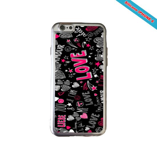 Coque Silicone Galaxy S10 verre trempé Fan de Ligue 1 Angers splatter