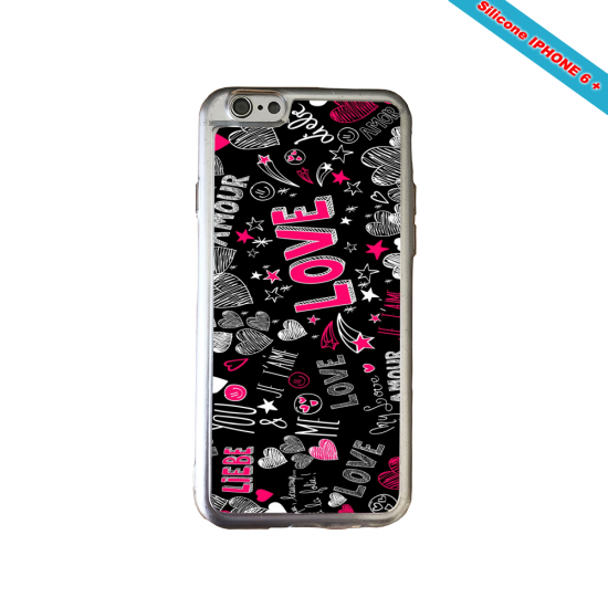 Coque Silicone Galaxy S10 verre trempé Fan de Ligue 1 Amiens splatter