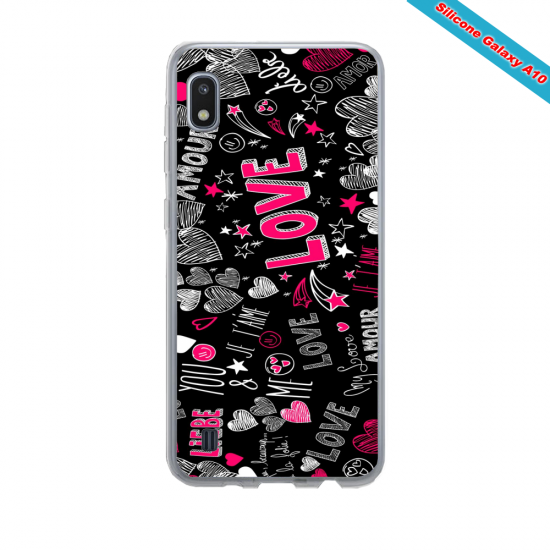 Coque Silicone Galaxy S10 verre trempé Fan de Ligue 1 Strasbourg cosmic