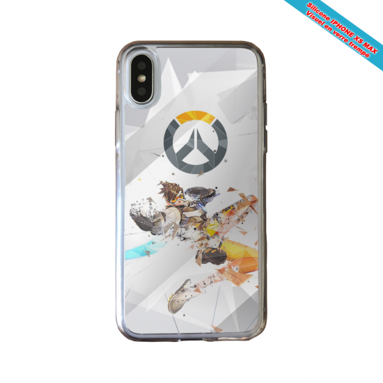 Coque silicone Huawei P40 Lite Fan de Ligue 1 St-Etienne graffiti