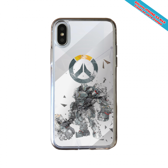 Coque silicone Huawei P40 Lite Fan de Ligue 1 Paris graffiti