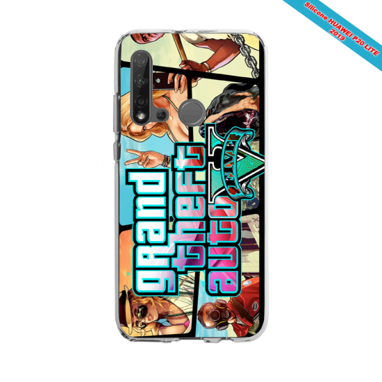 Coque silicone Huawei P40 Lite E Fan d'Overwatch Faucheur super hero