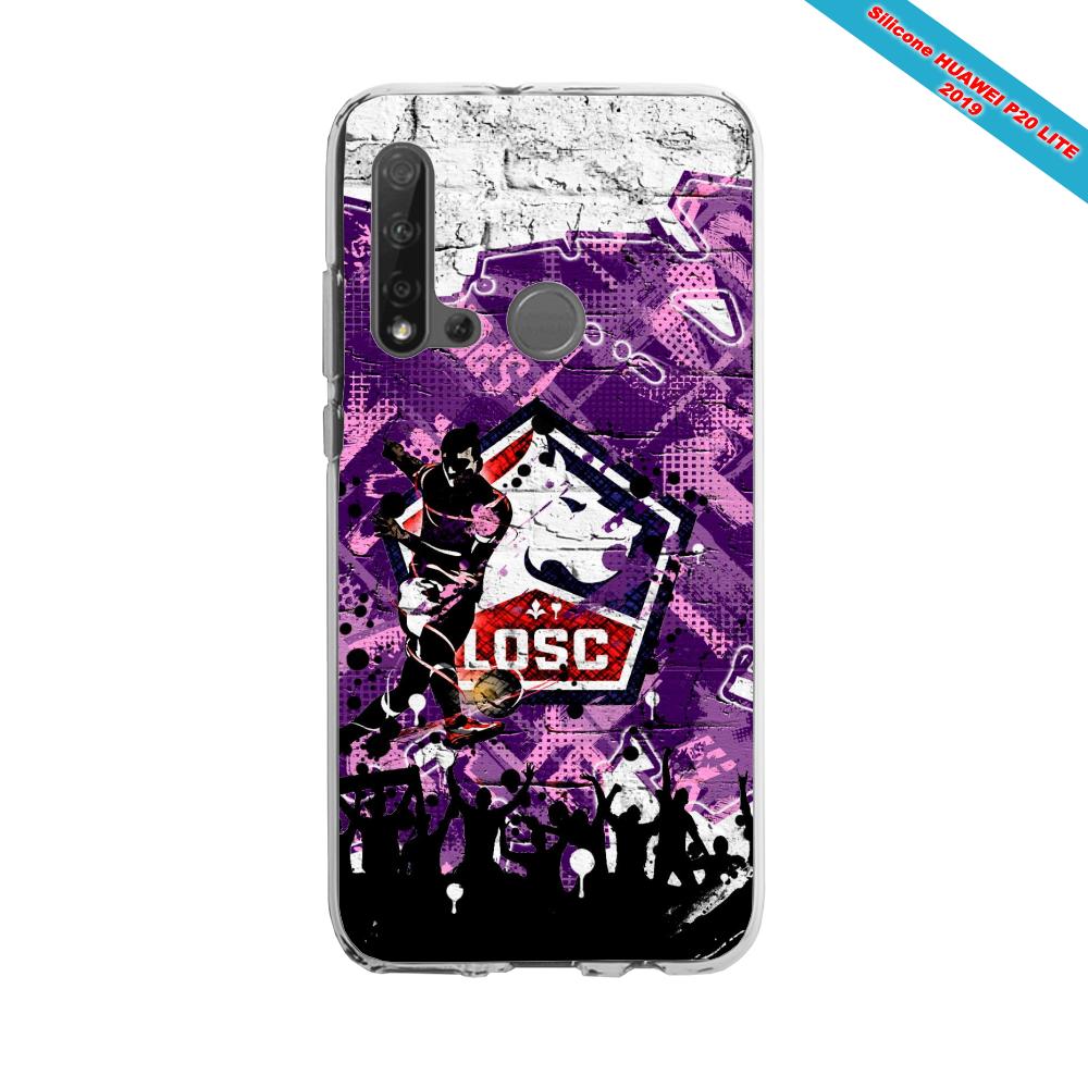 Coque silicone Huawei P40 Lite Fan de Ligue 1 Paris graffiti