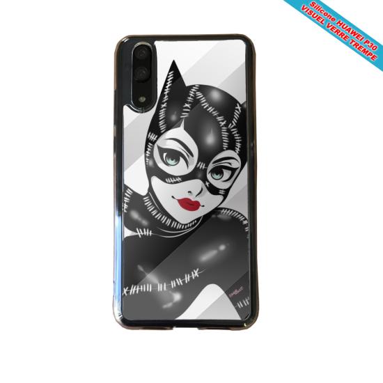 Coque silicone Huawei P20 LITE 2019 Fan de BMW version super héro