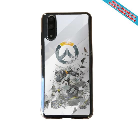Coque silicone Huawei P30 Fan de BMW sport version super héro