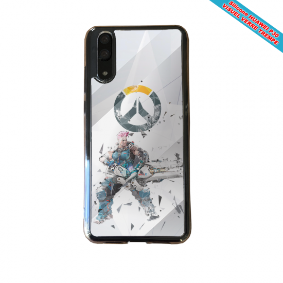 Coque silicone Huawei P20 LITE 2019 Fan de BMW sport version super héro