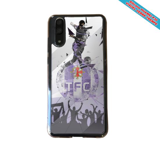 Coque silicone Iphone X/XS verre trempé Fan de BMW sport version super héro
