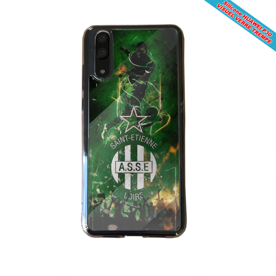 Coque silicone Huawei P30 Flamant rose