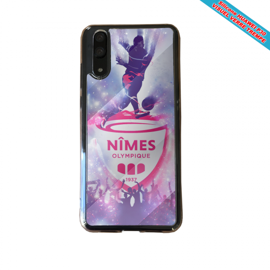Coque silicone Galaxy J7 2018 Flamant rose