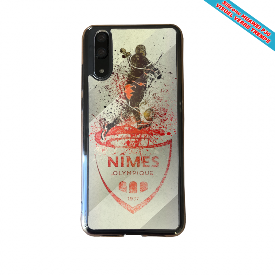 Coque silicone Iphone SE 2020 verre trempé Flamant rose
