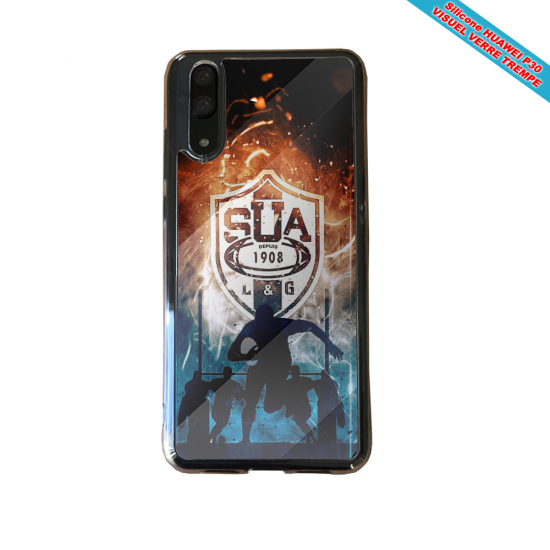 Coque silicone Iphone X/XS verre trempé Flamant rose