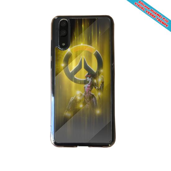 Coque silicone Huawei P10 Hibiscus bleu