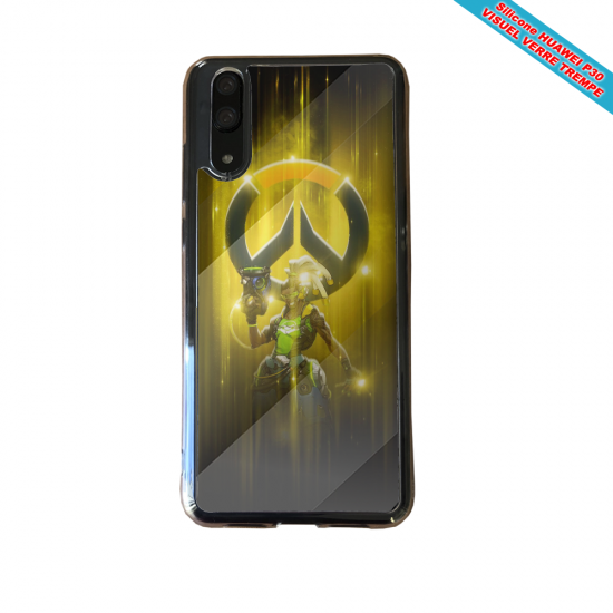 Coque silicone Huawei P8 lite Hibiscus bleu