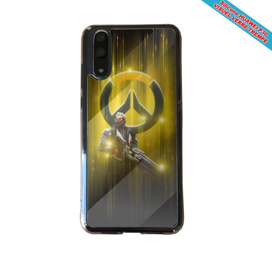 Coque Silicone Galaxy S20 Hibiscus bleu