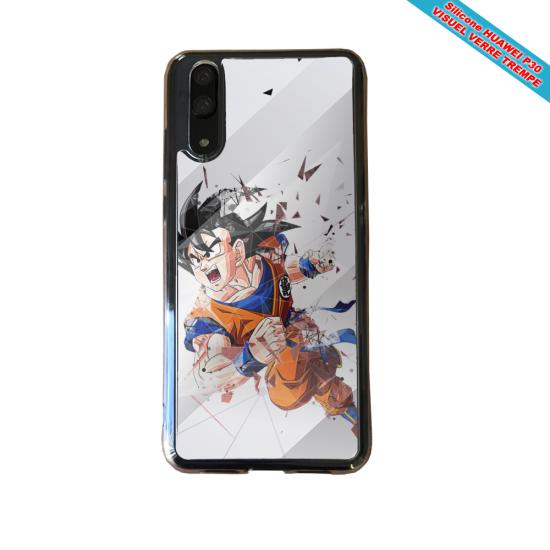 Coque Silicone Galaxy S9 Hibiscus bleu