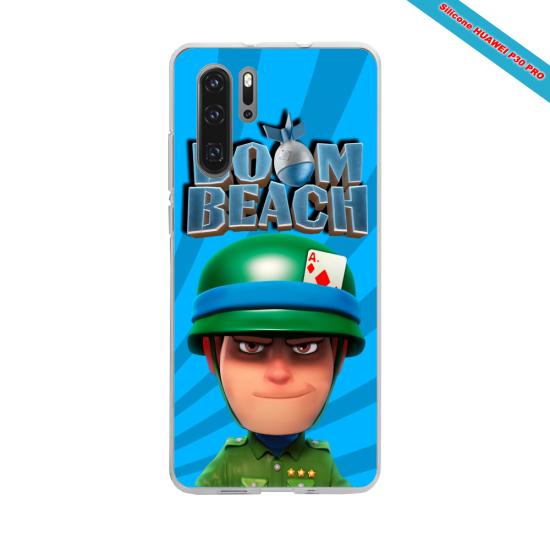 Coque Silicone Galaxy S8 PLUS Hibiscus bleu