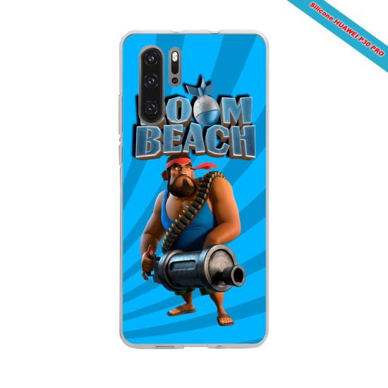 Coque Silicone Galaxy S7 EDGE Hibiscus bleu