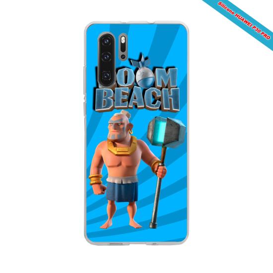 Coque Silicone Galaxy S7 Hibiscus bleu