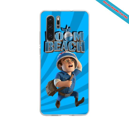 Coque Silicone Galaxy S6 Hibiscus bleu