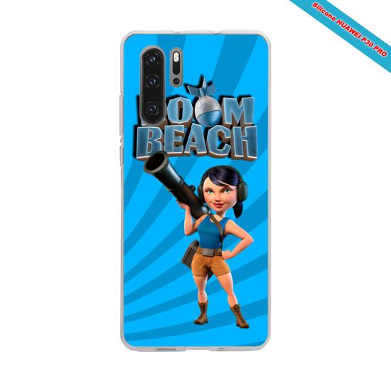 Coque silicone Galaxy J7 2017 Hibiscus bleu