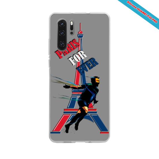 Coque silicone Galaxy J7 2016 Hibiscus bleu