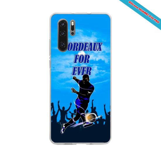 Coque silicone Galaxy J6 PLUS Hibiscus bleu
