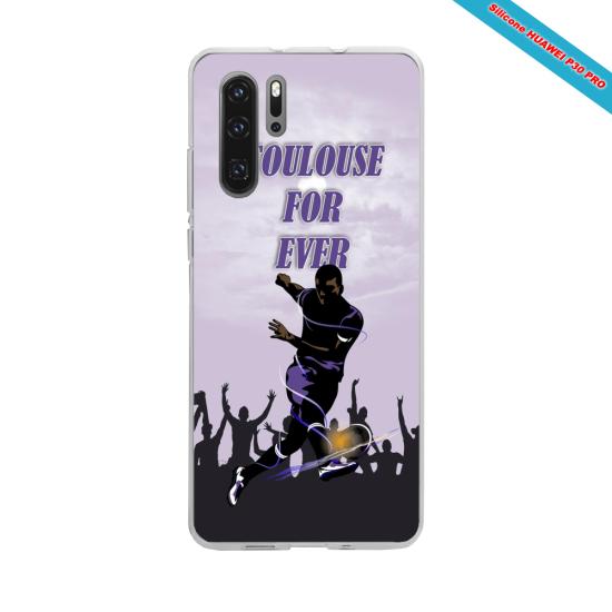 Coque silicone Galaxy J6 Hibiscus bleu