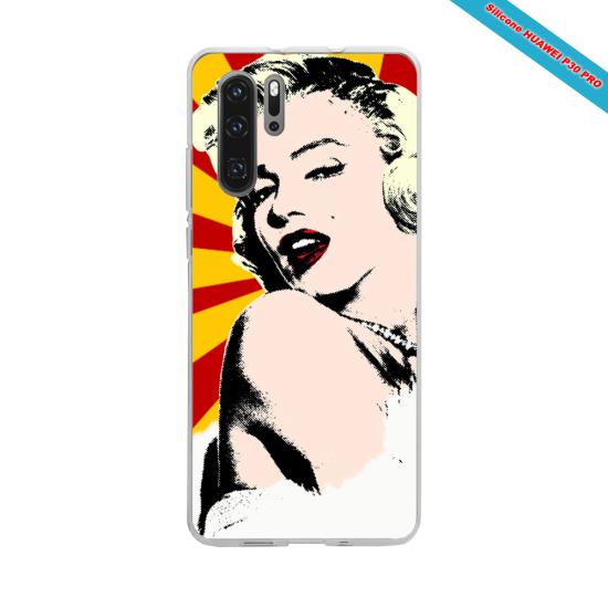 Coque silicone Galaxy J4 PLUS Hibiscus bleu
