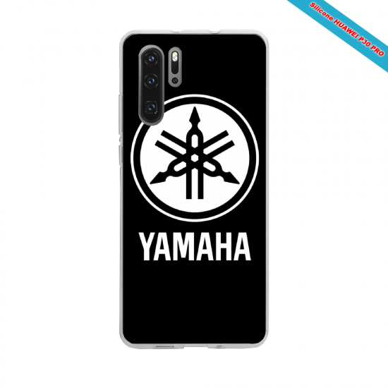Coque silicone Galaxy J4 CORE Hibiscus bleu